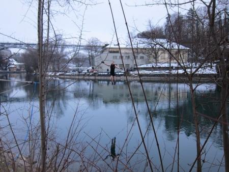 Waterline Marzili Januar mit Kornhausbrücke