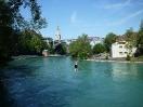 Die Waterline mit Münster und Kirchenfeldbrücke im Hintergrund (Foto: Silvia Schwarzenbach)
