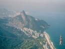 Attendee crosses a 50m slack line over a 842m hang at Pedra da Gavea, Rio de Janeiro, Brazil  on June 26th 2014